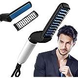 ASPERIA. Quick Hair Styler for Men Electric Beard Straightener Massage Hair Comb Beard Comb Multifunctional Curly Hair Straightening Comb Curler, Beard Straightener, Beard Straightener For Men(Black)