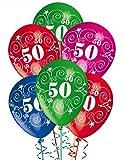 Luftballons Geburtstag 50Jahre Schleifen und Dekoration für Party Party Packung 25tlg.