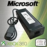 Official Microsoft 175w Xbox 360 AC Brick Power Supply Adapter PSU DSPN-168CB-1A - includes UK 3-pin Power Lead (OEM Packed - No Retail Packaging)