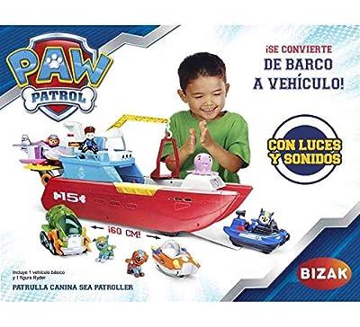 Paw Patrol Barco Sea Patroller Convertible en Vehiculo Terrestre de Bizak, S.A.