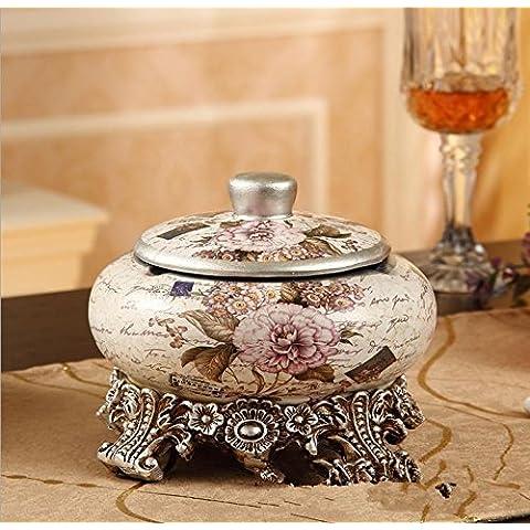 GG Cenicero de ceramica continental/grandes con cenicero de tapa/artes/sala de estar muebles/hogar decoración/cerámica ,