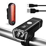 Bike Light Set, [Update] Degbit USB Rechargeable Bicycle Light Mountain Bike Light, Super bright waterproof Cree Led Cycle Lights Rechargeable, Easy Mount USB Front Light Headlight & Back Tail Light