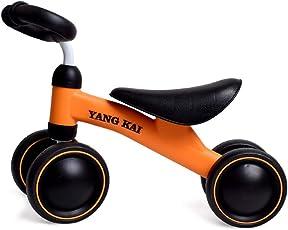 LVPY Mini Lauflerndreirad , Kinderlaufrad – stabiles Sicheres Laufrad – Kinder Spielzeug ab 1 Jahr, Schwarz Gelb