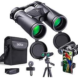 Jumelles Compactes Tacklife MBC02, Télescope Binoculaire, Oculaires Rotatifs, Hautes Puissance Prismes pour Smartphone avec L support, Volant en Alliage d'Aluminium, Antidérapante et Prise Facile