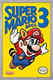 Close Up Super Mario Bros. 3 Poster (66x96,5 cm) gerahmt in: Rahmen silber