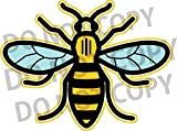 Red Parrot Graphics Manchester Working Bee #westandtogether Print Car, wall, laptop Sticker Decal (7.5cm x 10cm)