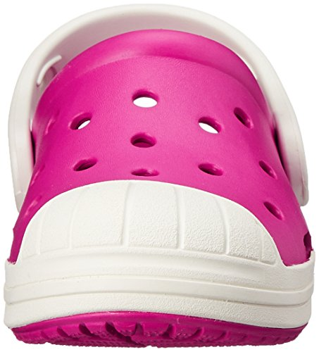 Crocs Bumper Toe Zoccoli Unisex per Bambini Rosa (Candy Pink/Oyster)