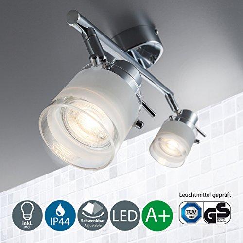 Lámpara LED de techo para baño I Barra de dos focos LED...