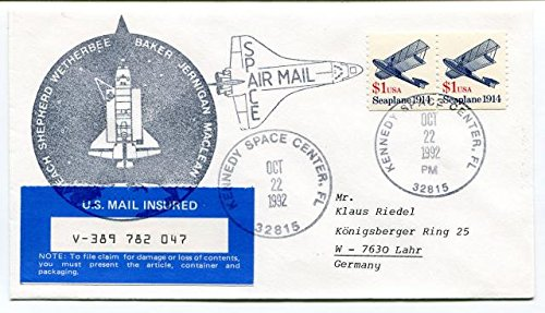 1992-wetherbee-baker-jernigan-maclean-kennedy-space-center-us-mail-insured-usa