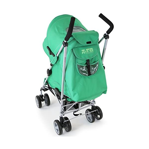 ZeTa Vooom Baby Stroller - Leaf (Green) ZETA Zeta Vooom Will Exceed You Expectations! Over 70,000 Thousand Parents Just Like You Own The Zeta Vooom And Have Rated It As The Best Stroller They Have Ever Had! Unique Drop Down Hood (Copy Right Protected), Superb Quality Product! The Best Money Can Buy! Better Than Any Pushchair In Its Class! Complete With FREE Rain Cover, Suitable From Birth 6