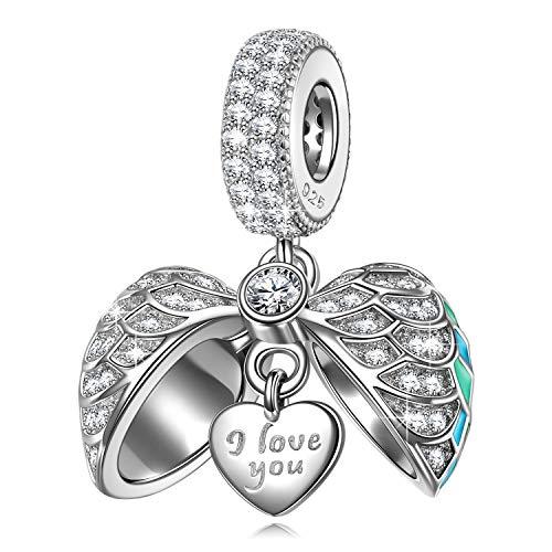 NINAQUEEN Charms anhänger für Pandora Armband Geschenke für Frauen Liebe Herz Silber 925 Zirkonia Emaille Schmuck Damen mit Schmuckkästchen Damen Geschenke für Mama✿