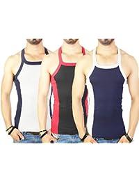 Zimfit Men's Gym Vest Pack Of 3 (Grey_Black_Navy)