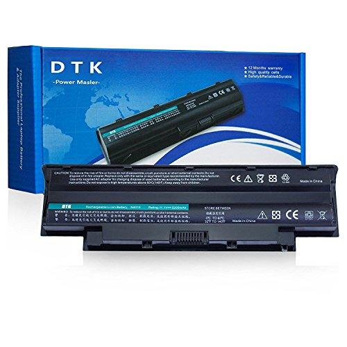 Dtk® Ultra Hochleistung Notebook Laptop Batterie Li-ion Akku für Dell Inspiron 13r 14r 15r 17r N3010 N3110 N4010 N4050 N4110 N5110 N5010 N5030 N5040 N5050 N7010 N7110 M5110 M5010 M4110 M501 M503 M5030 M411r M511r Series, Vostro 1440 1450 1540 1550 3450 3550 3750 Fits P/n J1knd 4t7jn 312-0234 - 12 Months Warranty Notebook Battery (4400MAH-6 CELLS)