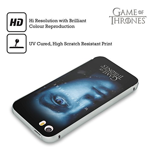 Ufficiale HBO Game Of Thrones Tyrion Lannister Winter Is Here Argento Cover Contorno con Bumper in Alluminio per Apple iPhone 6 Plus / 6s Plus Arya Stark