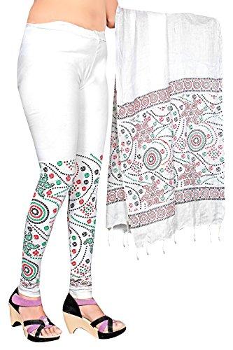 Snija Fashion Women\'s Cotton Leggings (PRDL2103W_White _X-Large)