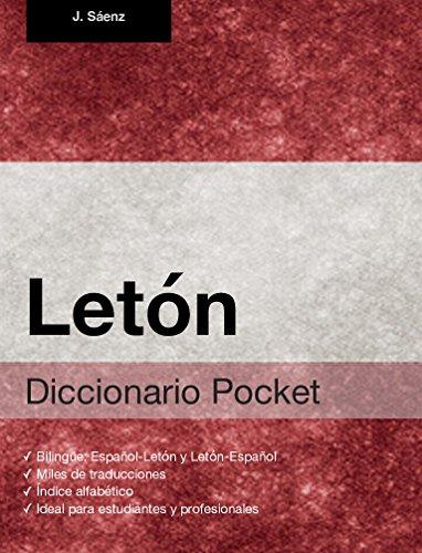 Diccionario Pocket Letón por Juan Sáenz