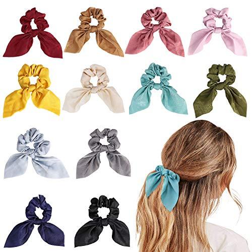 URAQT 12 Piezas Hair Scrunchies Elastic Hair Ties