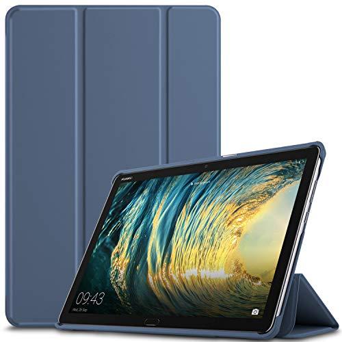 IVSO Hülle für Huawei MediaPad M5 Lite 10, Ultra Schlank Slim Schutzhülle Hochwertiges PU mit Standfunktion Ideal Geeignet für Huawei MediaPad M5 Lite 10 10.1 Zoll 2018 Modell, HJ-Stone