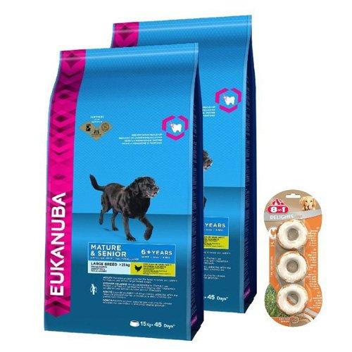 Eukanuba Senior, Trockenfutter für ältere Hunde ab 7 Jahre großer Rassen, Premiumfutter...