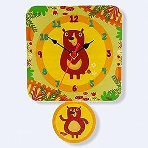Dida - Reloj de pared para niños - Ositos - Reloj de Pie para Niños de madera marca DIDA