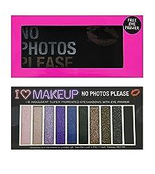 Makeup Revolution - I Heart Makeup Slogan Eye Shadow Palette - No Photos Please With Primer