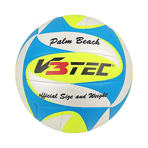 V3TEC Beachvolleyball Volleyball PALM BEACH Gr. 5, Farben:blau