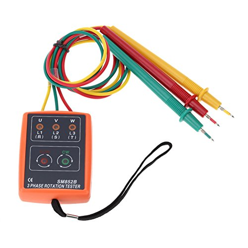 SaySure - 3 Phase Sequence Rotation Indicator Tester With Open