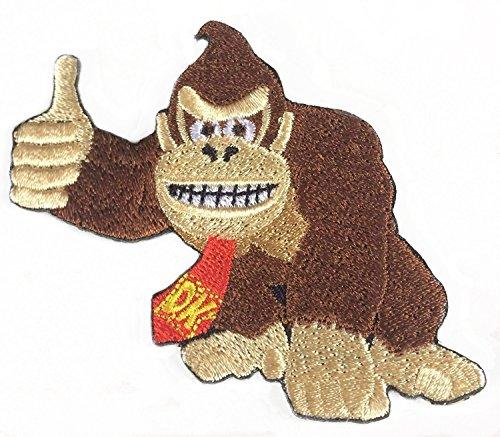 Donkey Kong Patch vollständig aufgesticktem Eisen/Nähen auf Badge -