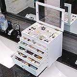 Jewelry storage box Hochwertige Holz Schmuck Aufbewahrungsbox, Schmuckschatulle, Schublade Schmuckschatulle, Europäischen Schmuck Ring Ohrringe Schmuck Aufbewahrungsbox,Transparent