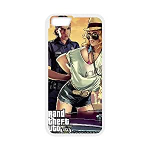 Grand Theft Auto V Game iPhone 6 Plus 5.5 Inch Cell Phone Case White yyfabc_090838