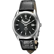 Orient FFD0F002B Caballero Vintage Black Dial Power Reserve Leather Strap Automatic Reloj