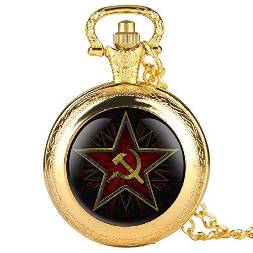 WUAIDING Reloj Bolsillo Pentagram Party Emblem URSS
