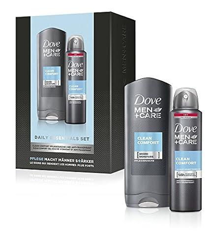 Dove Men+Care Geschenkset Clean Comfort: Duschgel & Deospray, 1er Pack