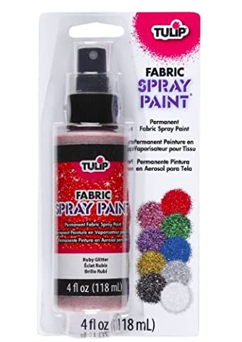 Tulip 4oz Spray Paint (Ruby Red Glitter)