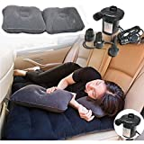 #8: Kawachi Car Travel Inflatable Sofa Mattress Air Bed Cushion Camping Universal Travel Bed Rear Seat With Pillow and Pump Heavy-duty Backseat Car Travel Mattress Perfect For Your Mini-van or SUV