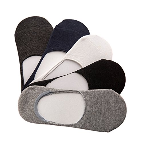 CHIC-CHIC 5 Paare Herren Sport Socken Footies Damen Sneaker unsichtbar Kurz Low Cut Anti-Rutsch Stealth Socks - Chic Deodorant