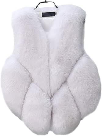 FOLOBE Womens 'Soft Faux Fur Vest Gilet per Adulto