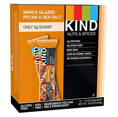 Kind Snacks Kind Nuts & Spices Maple Glazed Pecan & Sea Salt – 12 Bars