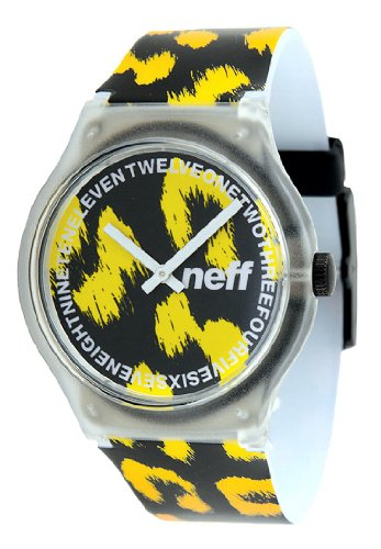 Neff Clear Watch Uhr Cheetah, Yellow, Uni Cheetah Uhr