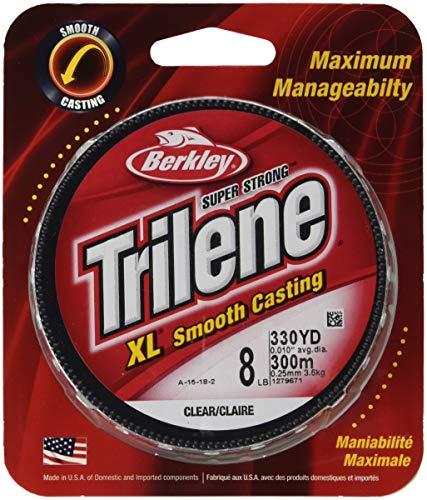 Berkley Trilene Xl Filler 0,01-Zoll-Durchmesser Angelschnur, 8-Pfund-Test, 330-Yard Spool, Klar