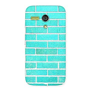 Gorgeous Brick Cyan Back Case Cover for Moto G