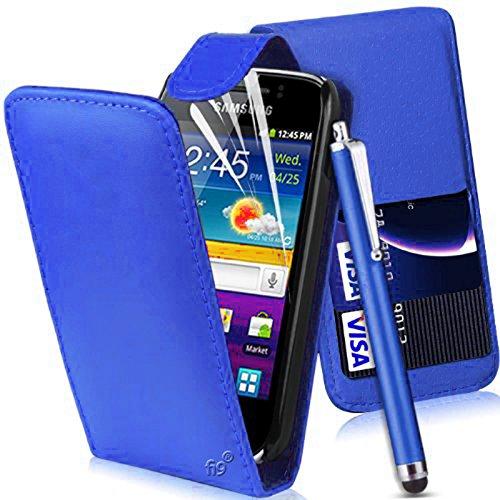 Mod Accessories Custodia Flip per Samsung Galaxy Ace 2II GT-i8160(in finta pelle, con 3Protezioni Schermo e 1Pennino Gratis)