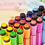 #9: INNOVATIVE IMPORTED SKETCH PENS WITH STAMPS ( SET OF 12 )