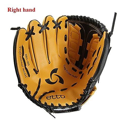 Baseball Handschuhe, PVC Baseball Catchball Training Praxis Handschuhe, Antislip Stoßdämpfung für Freizeit Sport RECHTS UND Linke Hand, Right hand