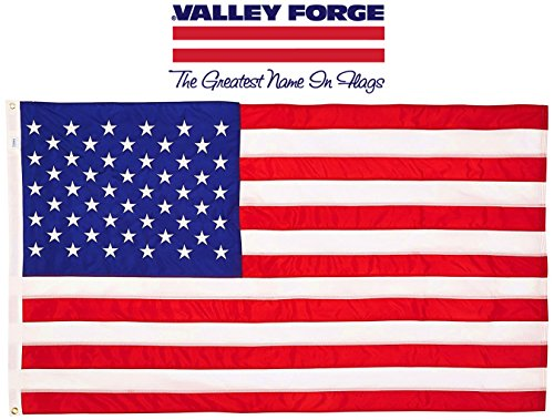 Standard-US-Flagge von Valley Forge Flag, aus Baumwolle, 0,9 m x 1,5 m