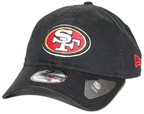 San Francisco 49ers New Era 9Twenty NFL Core Classic Adjustable Hat - Black