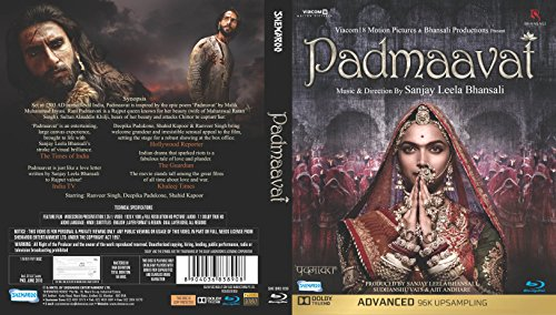 Padmavaat Hindi blu ray ( All Regions English Subtitles )