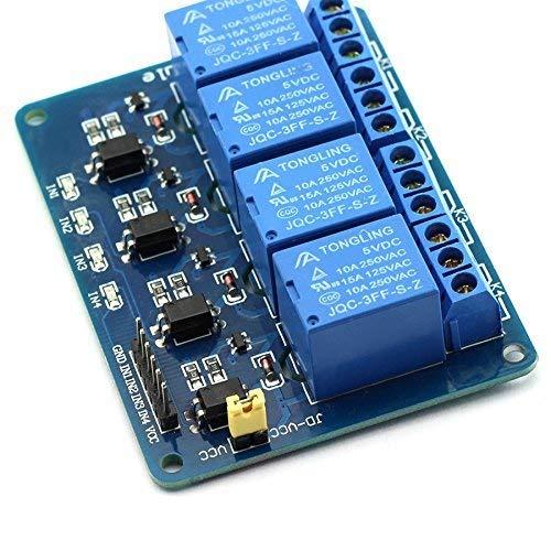 Kanal-koppler (ARCELI 4-Kanal 5V-Relaismodul mit Erweiterungskarte für den Schutz optischer Koppler)