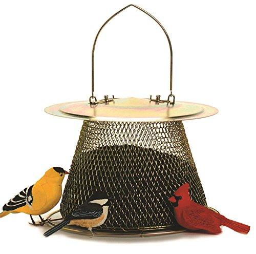OPUS B00302 Original Vogelfutterspender für Wildvögel, ganz aus Metall, messing (Sonnenblumenkerne Original)