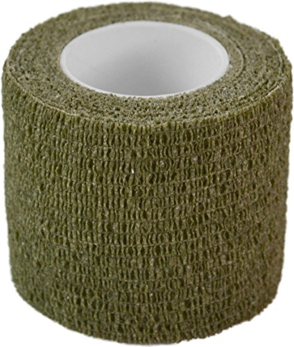 Outdoor Tarnband selbsthaftend 5 cm x 4,5 m Woodland Farbe Oliv